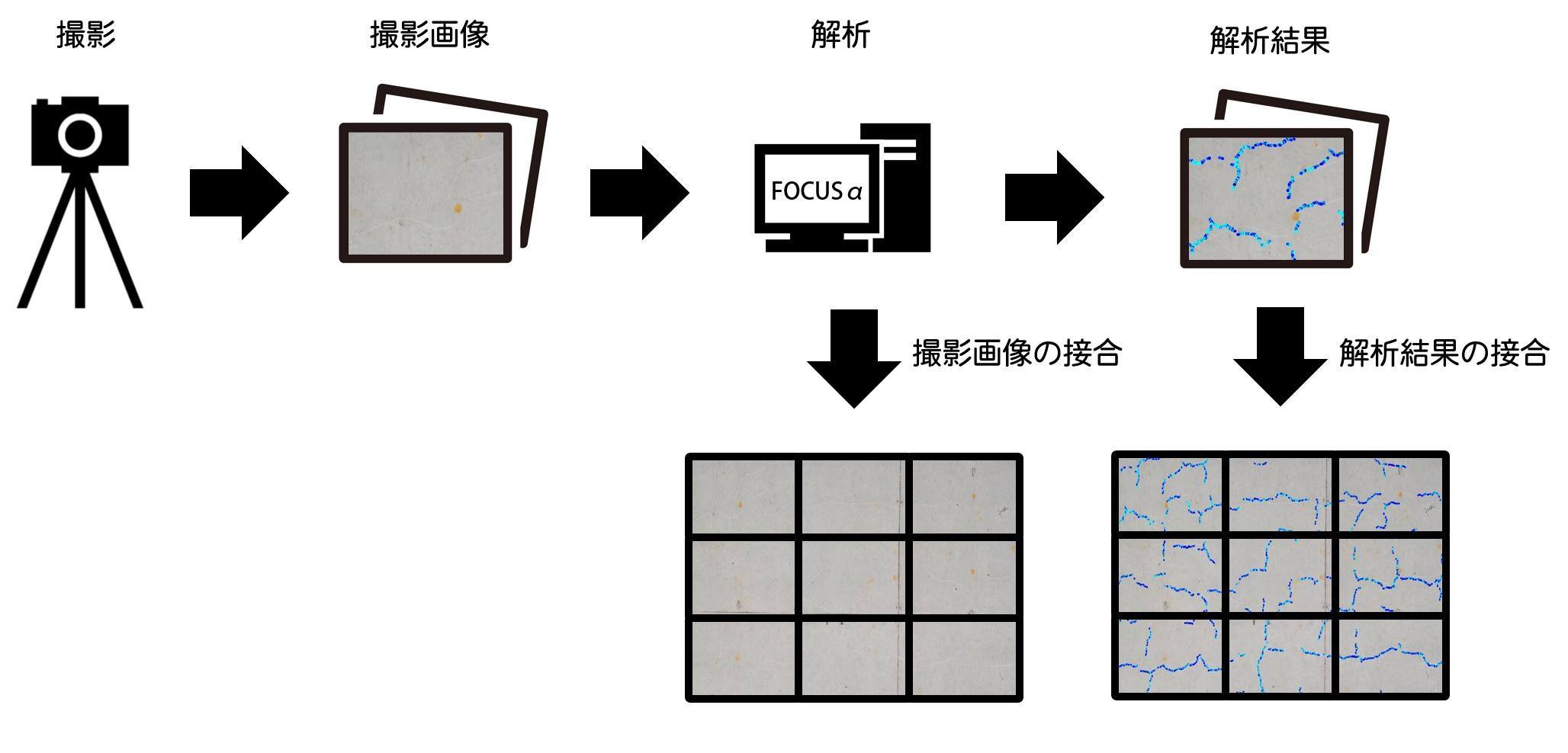 クラック自動抽出システム